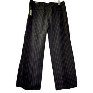 I.N. Studio Dark Brown Pin Stripe pants 12 P